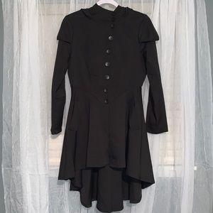 Unique high low women's jacket
